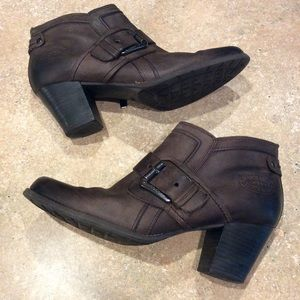 MARCO TOZZI BROWN SUEDE BOOTIE